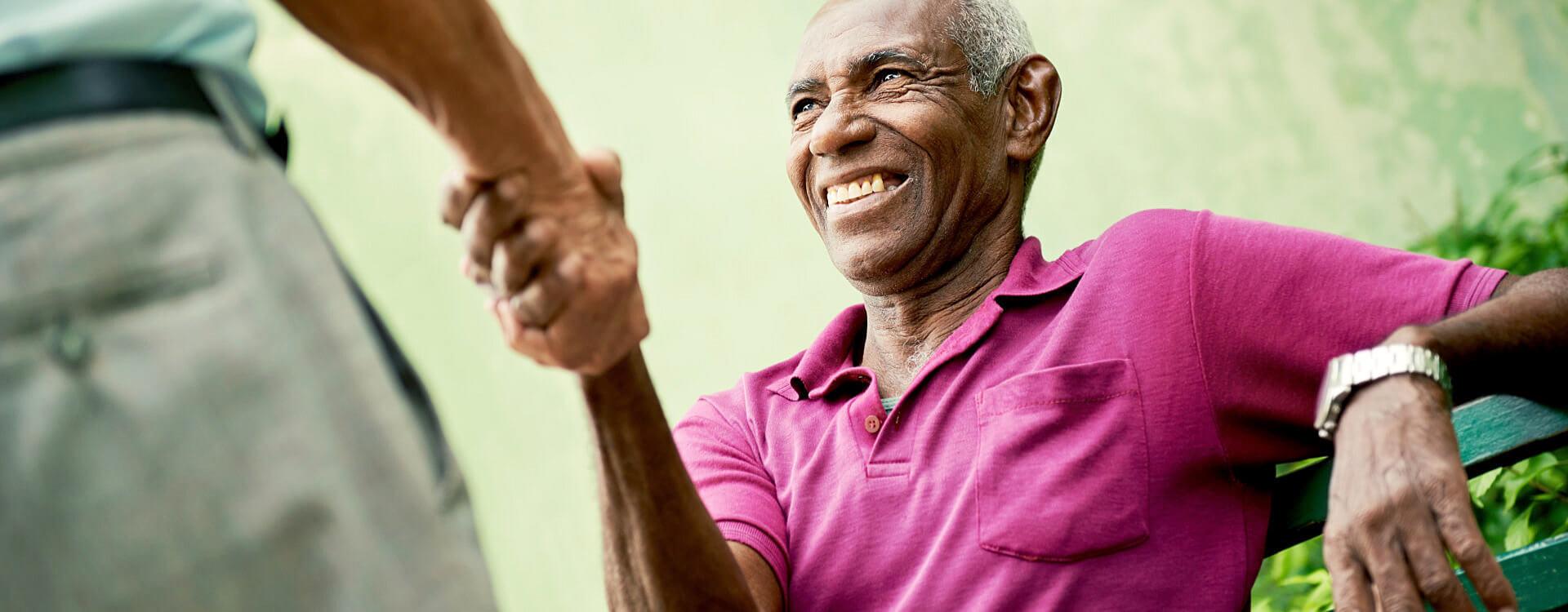 happy senior african american